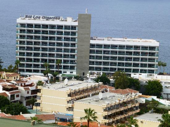 Sensimar Los Gigantes: Hotel from above Los Gigantes town