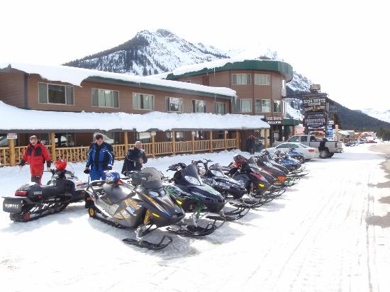 Soda Butte Lodge: No better place to snowmobile than Cooke City and the Soda Butte is the best place to hang your