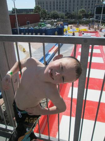Coco Key Hotel and Water Park Resort: my wee boy braving the rides