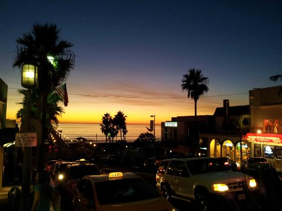 Rock'N Fish: View of sunset from vantage point outside Rock N Fish