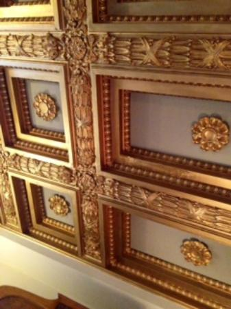 The Sayre Mansion Inn: Ornate Ceiling