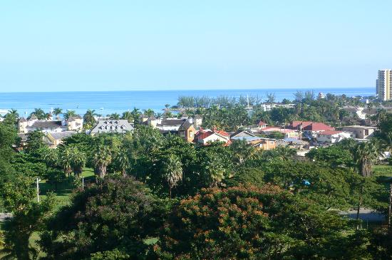 Mystic Ridge Resort: View of Downtown Ocho Rios from Property