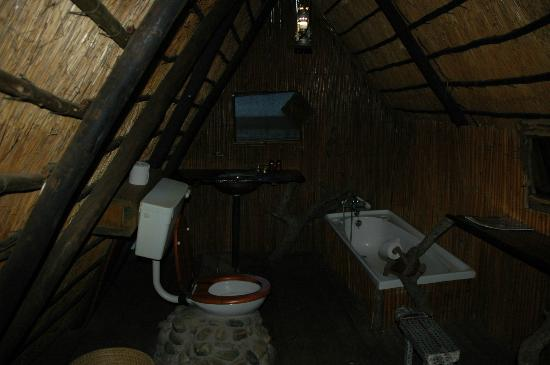 Pezulu Tree House Game Lodge : Very functional bathroom ... in a tree! Nicer shower outside though.