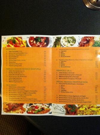 Viet & Thai Restaurant: great menu!