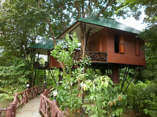 Surat Thani, Tailandia: Standard Tree house at the Khao Sok Paradise Resort