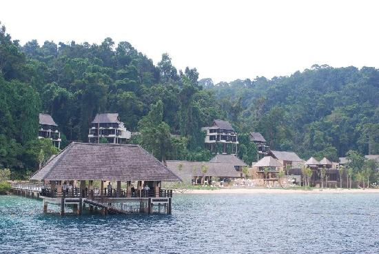 Gaya Island Resort: Approaching the resort