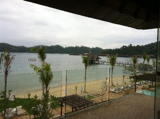 Gaya Island Resort: View from the library