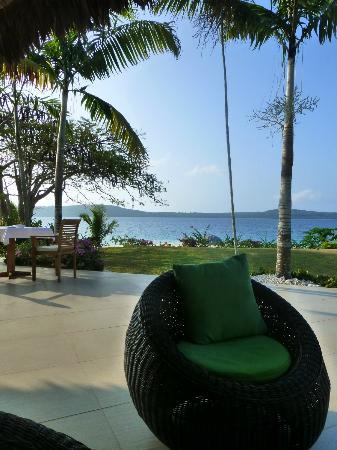 The Havannah, Vanuatu: outdoor seating