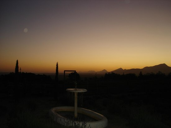 Outeniqua Moon Percheron Stud and Guest Farm: After sunset magic from the porch