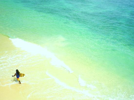 Upul's Guest House: ベランダから観たビーチ