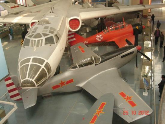 China Aviation Museum: mustang with bullet holes in wind screen