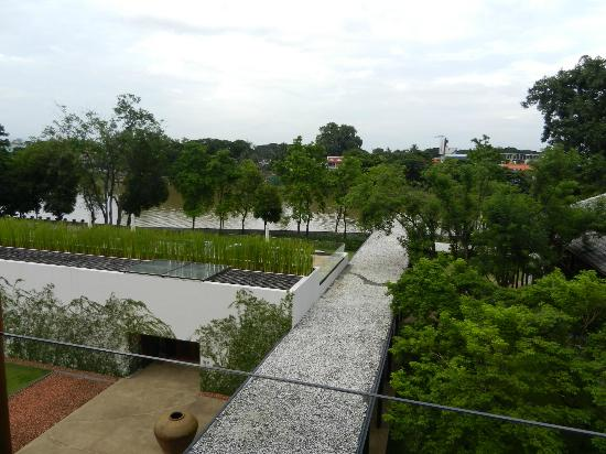 Anantara Chiang Mai Resort: View from our room looking down to gardens