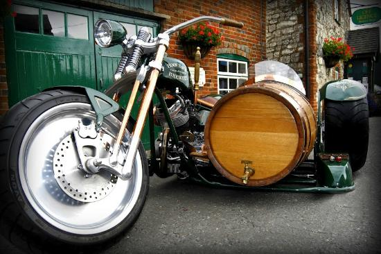 The Hogs Back Brewery - Beer Engine (Bike and Barrel side car).