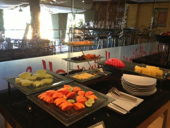 The Aspasia Phuket: Buffet breakfast with a small but good range of food.