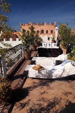Riad Assakina: The roof terrace