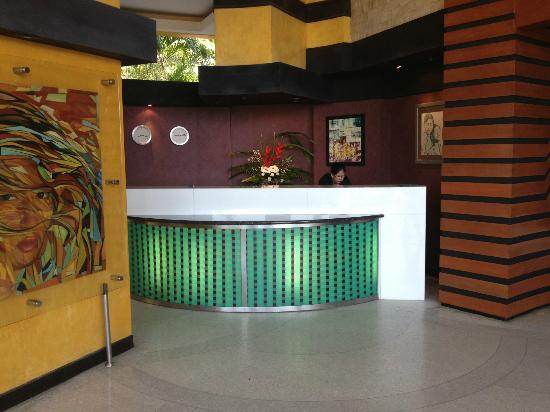 The Aspasia Phuket: Reception desk, quiet cute staff.