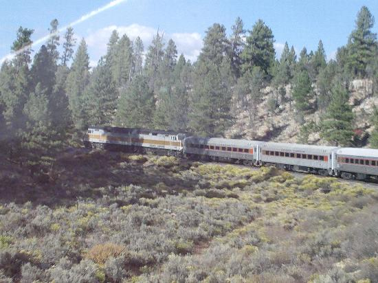 Grand Canyon Railway Hotel: View from the dome car