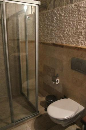Terra Cave Hotel: Bathroom in room 501
