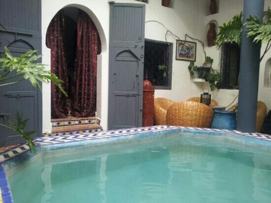 Riad Chouia Chouia : piscine salon
