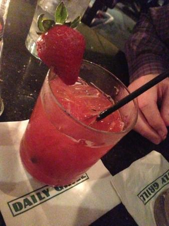 Daily Grill: strawberry cocktail