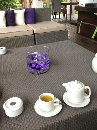 لو ريف هوتل آند سبا: Lounge area for teatime 