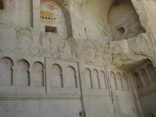 Nevsehir Forum: A part of a wall in an excavatd church in Cappadocia.