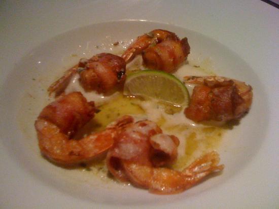 Polo Grill: Lime glazed bacon wrapped shrimp