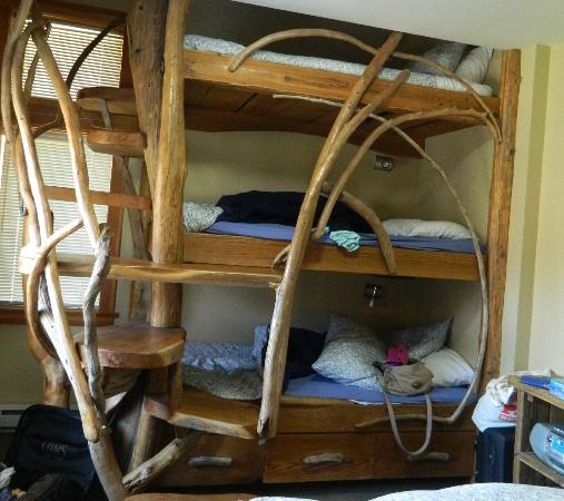 South Chesterman Beach Condos: triple drift wood bunk beds