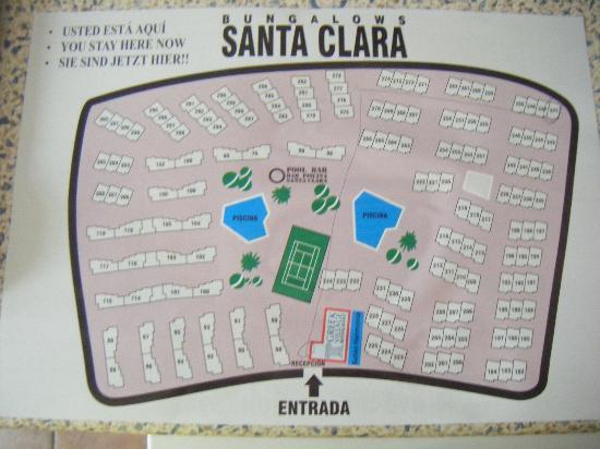 Santa Clara Bungalows: Bungalow map