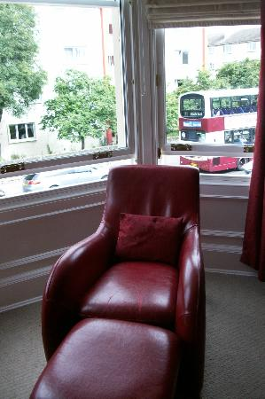 Fraoch House: Designer chair in the bay window
