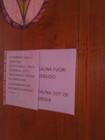 Hotel Terme La Bagattella: sauna fuori servizio