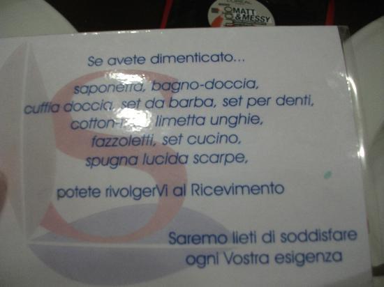 Fordongianus, Italia: messaggio nel bagno