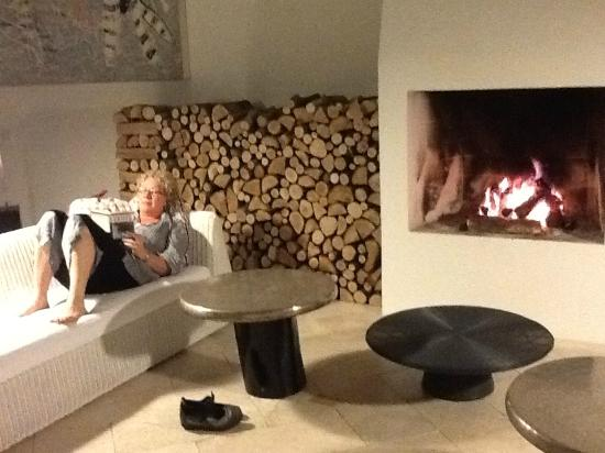 Siena House: A quiet moment by the crackling fire