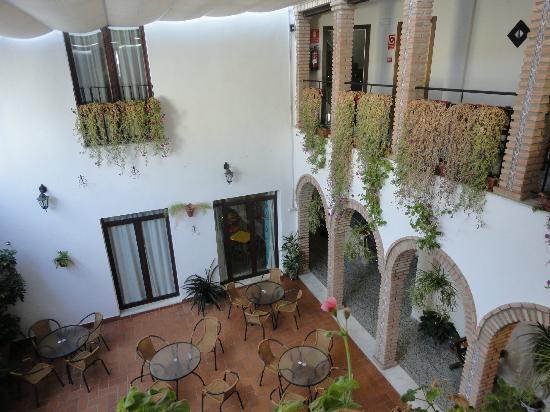 Hotel de los Faroles: view from our room