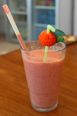 Hideaway Hotel: Yummy fruit smoothies