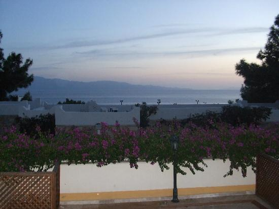 Bodrum Park Resort: Evening view from hotel bar