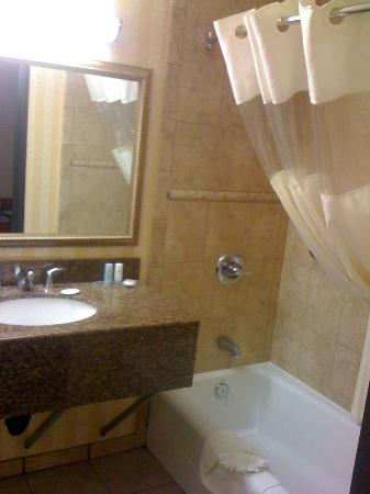 Comfort Inn & Suites near Long Beach Convention Center: Bathroom tub/shower.