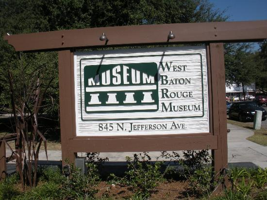 West Baton Rouge Museum: sign at entrance