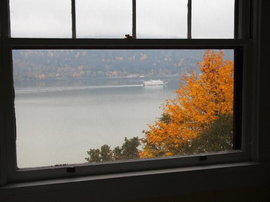 Lakecliff Bed and Breakfast: View from the Daffodil room's back window
