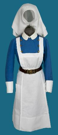 Museum of Health Care: Nursing Sister's apron, Royal Canadian Army Medical Corps, 1939-1945, Collection of the MHC