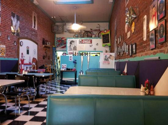 Main Street Diner : A view to the back (kitchen) from my booth.