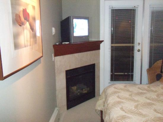 The Seabreeze Guest House: Fireplace in bedroom