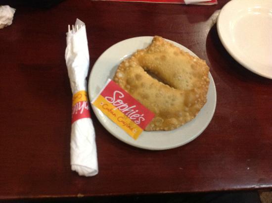 Sophie's Cuban Cuisine: My hot Empanada