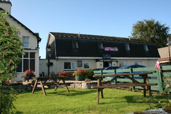 The Albert Inn: View from the beer garden.