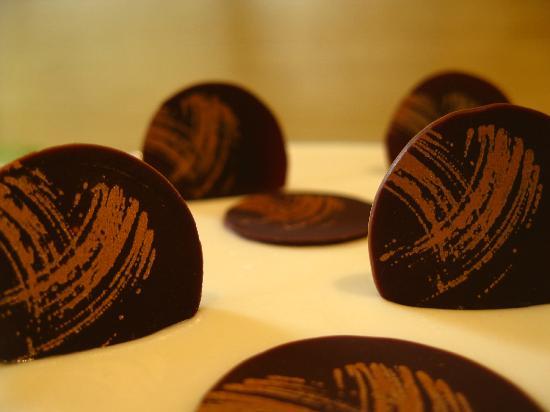 Lo Gnomo Gelato: Dettaglio, torta di semifreddo crema e cioccolato