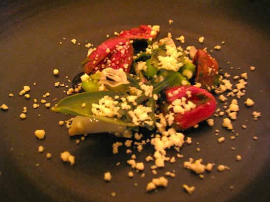 Meadowood Napa Valley: No idea how to describe this dish...taste not so pleasant