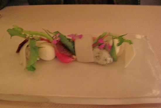 Meadowood Napa Valley: Mozzarella cheese-beautifully done, but after main(meat) dish?