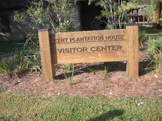 Kent Plantation House: sign at entrance