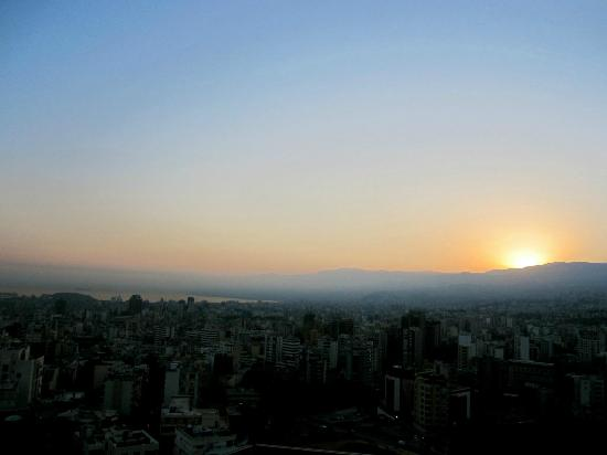 Hilton Beirut Habtoor Grand: The beautiful view from our 18th floor guest room.
