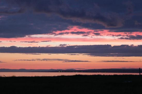 Les Chalets du Bioparc : le coucher de soleil